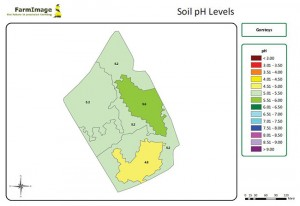 Soil zones are extrapolated from Electro conductivity data
